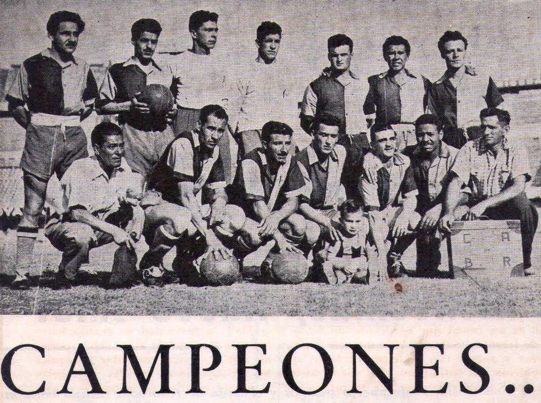 Equipo campeón de la Extra A en 1956